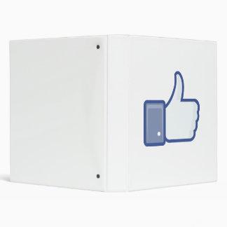 facebook LIKE me thumb up binder
