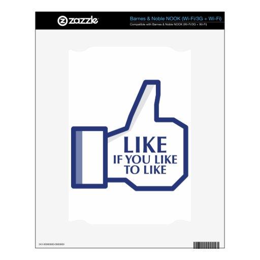 Facebook Like NOOK Skin