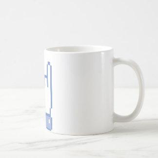 facebook like ROCK peace hand sign pixel graphic Coffee Mug