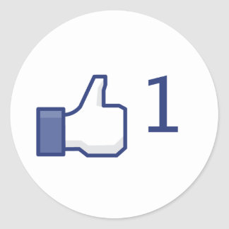 Facebook Like - Round Stickers