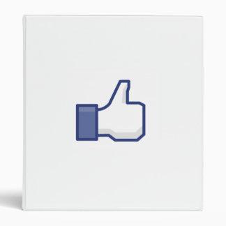 facebook LIKE thumb up binder