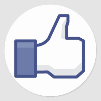 facebook LIKE thumb up Classic Round Sticker