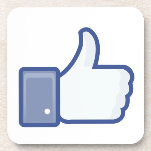 facebook LIKE thumb up icon graphic Coaster