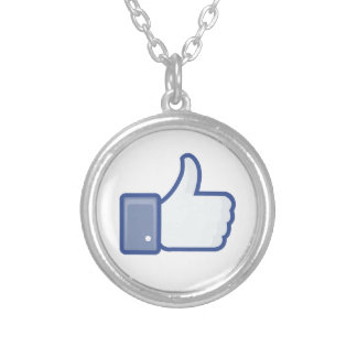facebook LIKE thumb up icon graphic Necklace
