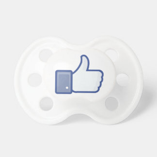 facebook LIKE thumb up icon graphic Pacifier