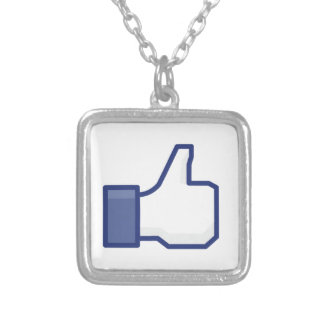 facebook LIKE thumb up Personalized Necklace