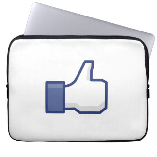 facebook LIKE thumb up neoprene laptop case Laptop Sleeves