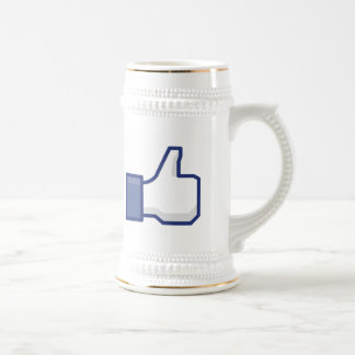 facebook LIKE thumb up stein coffee tea mug