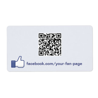 Facebook Like Website Promotion Label