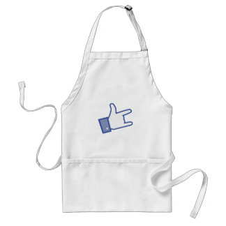 Facebook like You Rock thumb Rock and Roll icon Adult Apron