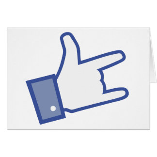 Facebook like You Rock thumb Rock and Roll icon Card