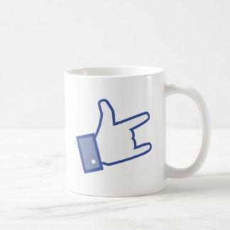 Facebook like You Rock thumb Rock and Roll icon Coffee Mug