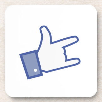 Facebook like You Rock thumb Rock and Roll icon Drink Coaster