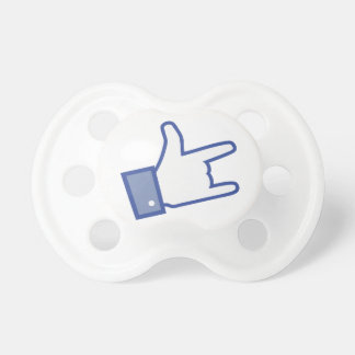 Facebook like You Rock thumb Rock and Roll icon Baby Pacifier