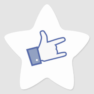 Facebook like You Rock thumb Rock and Roll icon Star Sticker
