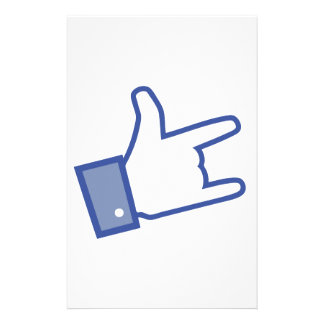 Facebook like You Rock thumb Rock and Roll icon Stationery