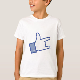 Facebook like You Rock thumb Rock and Roll icon T-Shirt