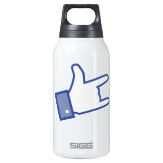 Facebook like You Rock thumb Rock and Roll icon Thermos Water Bottle