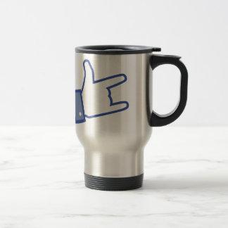 Facebook like You Rock thumb Rock and Roll icon Travel Mug