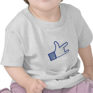 Facebook like You Rock thumb Rock and Roll icon Tee Shirt