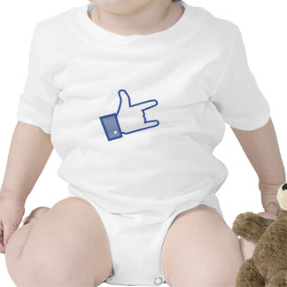 Facebook like You Rock thumb Rock and Roll icon Bodysuits