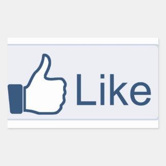 Facebook 'Liked' Rectangular Sticker