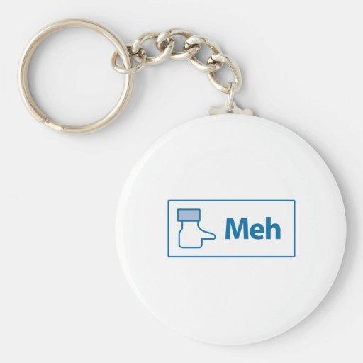 Facebook Meh Basic Round Button Keychain