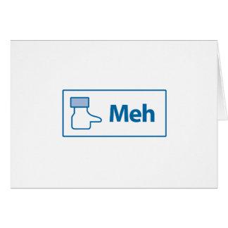 Facebook Meh Greeting Card