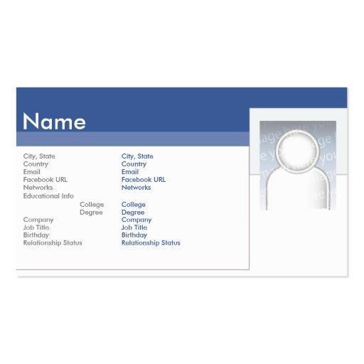 Facebook - negocio tarjetas de visita
