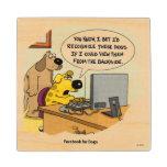 Facebook para los perros posavasos de madera