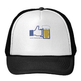 Facebook Parody Beer Thumbs Up - People Like This Trucker Hat