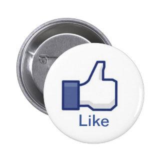 Facebook Pin Redondo 5 Cm