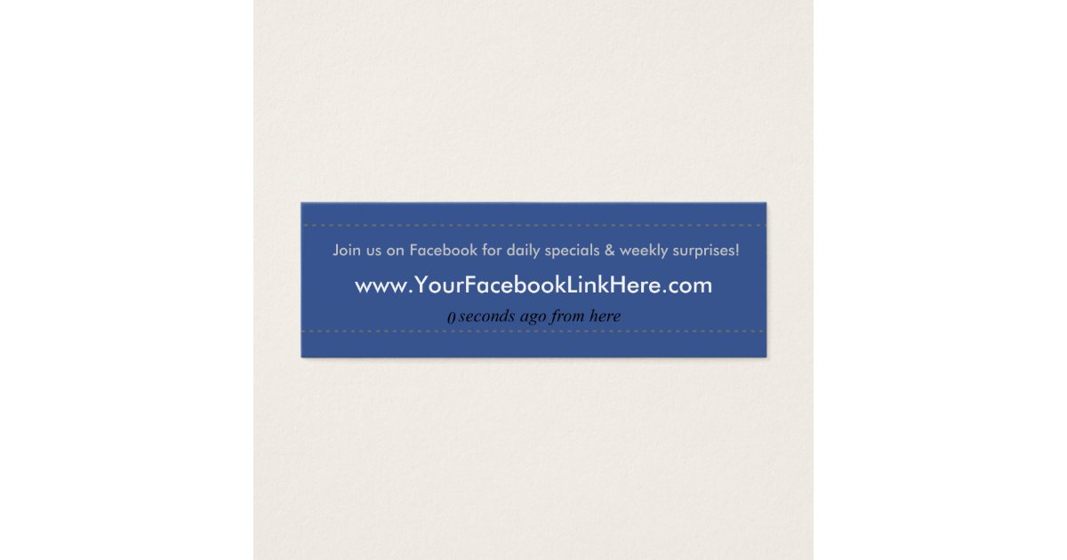 Facebook Profile Business Card *Specials blu   Zazzle.com