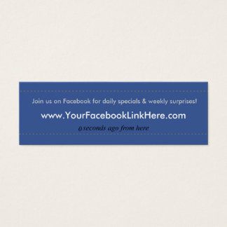 Facebook Profile Business Card *Specials blu