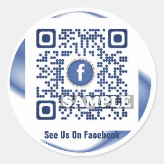 Facebook QR Code Sticker (Template Net2tag QR#539)