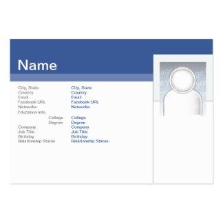 Facebook - rechoncho tarjetas de visita grandes