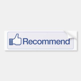 facebook recommend button funny graphic icon bumper sticker