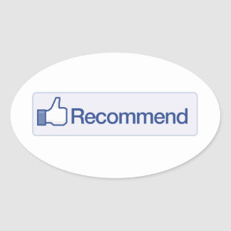 facebook recommend button funny graphic icon oval sticker