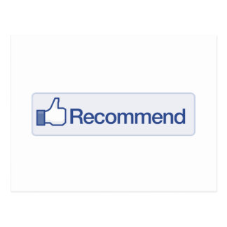 facebook recommend button funny graphic icon postcard