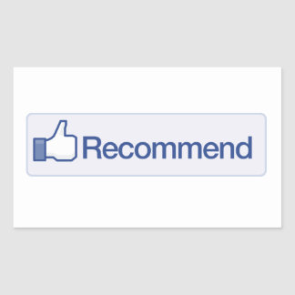 facebook recommend button funny graphic icon rectangular sticker