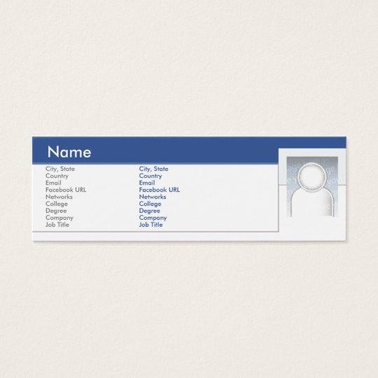 Facebook - Skinny Mini Business Card