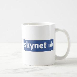 Facebook - Skynet Taza Básica Blanca