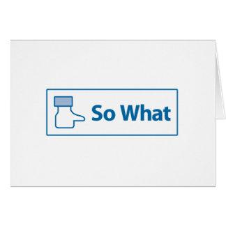 Facebook So What Card