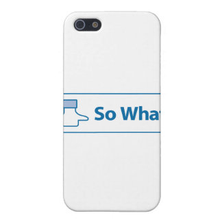 Facebook So What Cover For iPhone 5