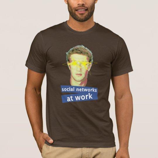 Facebook Social Networks at work T-Shirt