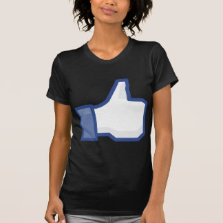 facebook thumbs up LIKE graphic Black Tee