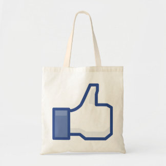 facebook thumbs up LIKE graphic Tote Bag