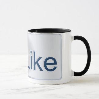 Facebook tiene gusto de la taza del botón