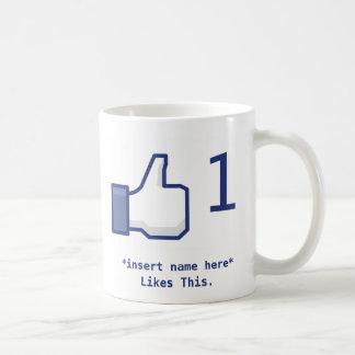 Facebook tiene gusto de la taza