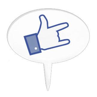 Facebook tiene gusto de usted de oscilar el icono figuras para tartas